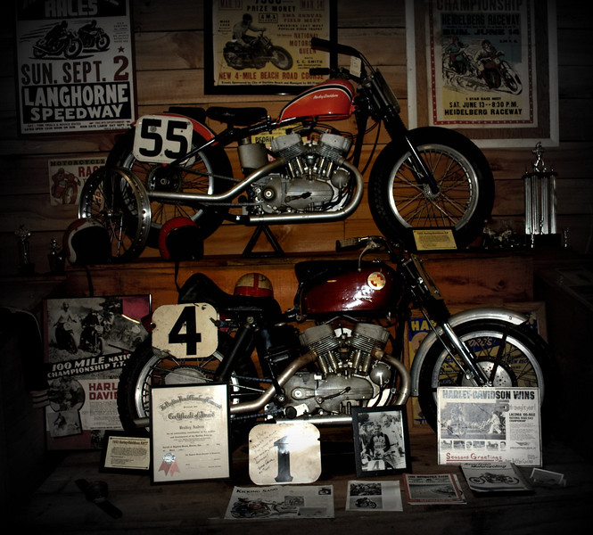 Two more great period flat tracking motorcycle winners...