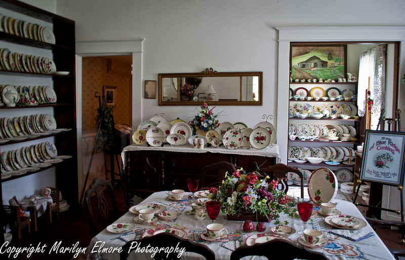 Blue Ridge Pottery Room (formal dining room of the house.)