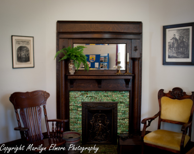 ORNATE FIREPLACE LOCATED IN SUPERINTENDENTS OFFICE